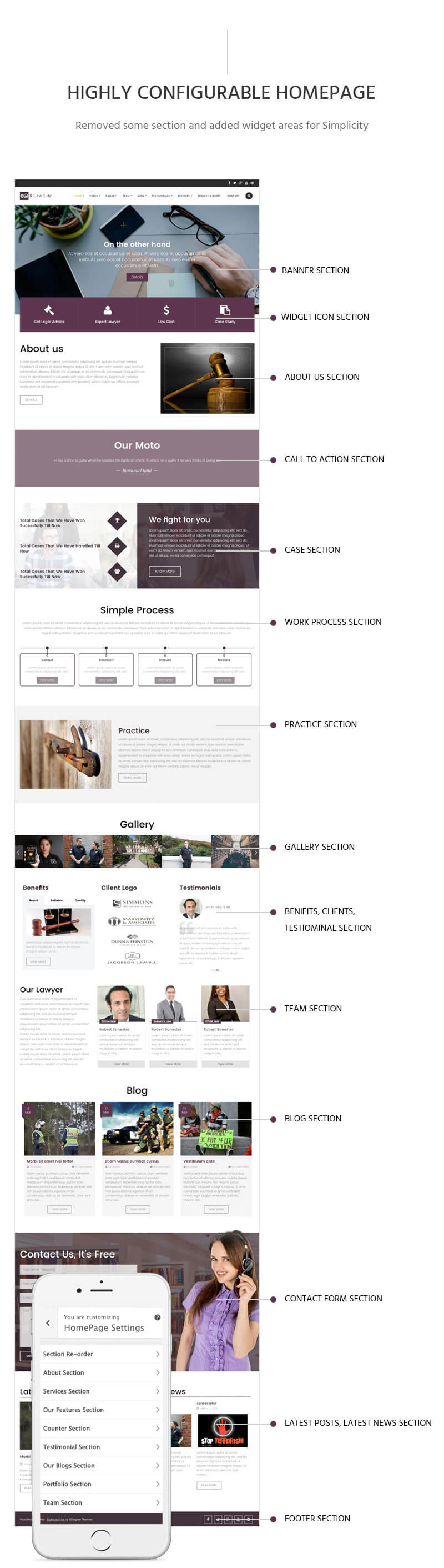 EightLaw Lite – Free Lawyer WordPress Theme For Law Firm