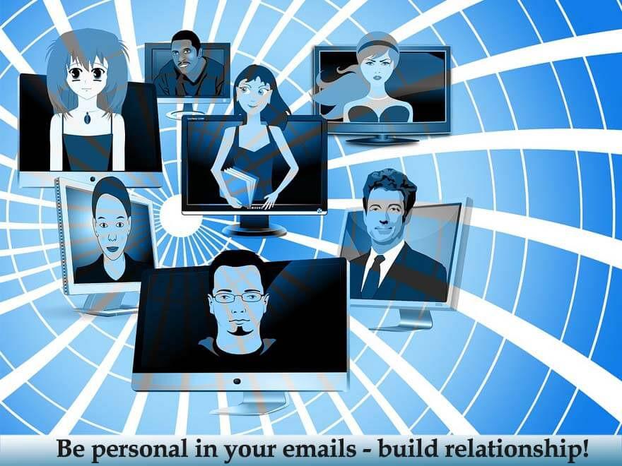 get personal in your emails