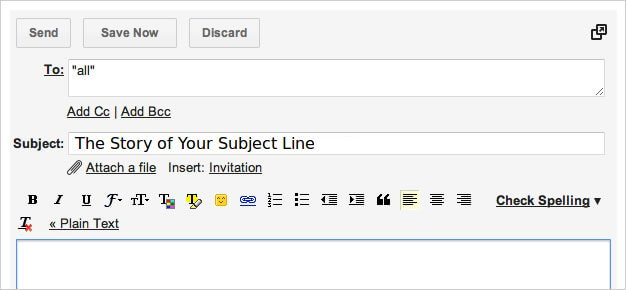 the story of your subject line