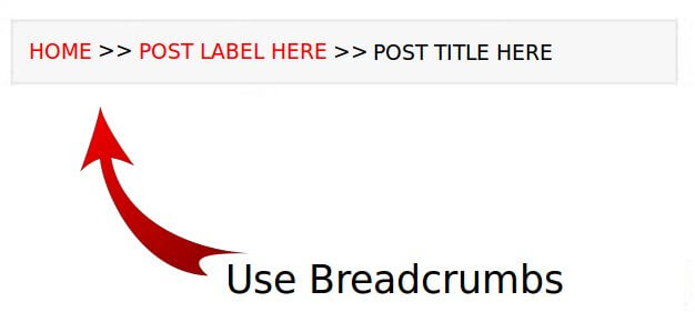 use breadcrumbs