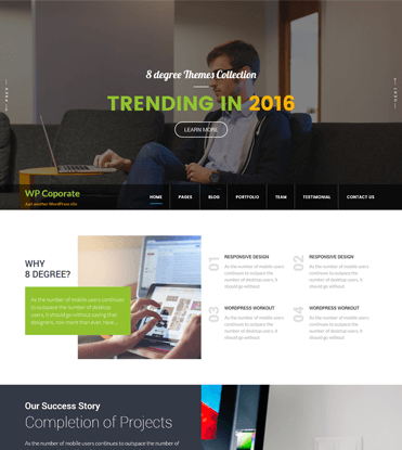 WP Corporate - Best Free WordPress Business Theme