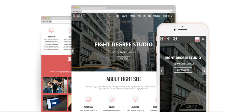 Eight Sec – Free One Page WordPress Theme
