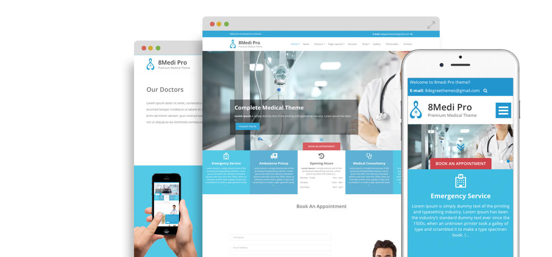 EightMedi Pro – Best Premium Medical & Healthcare WordPress Theme