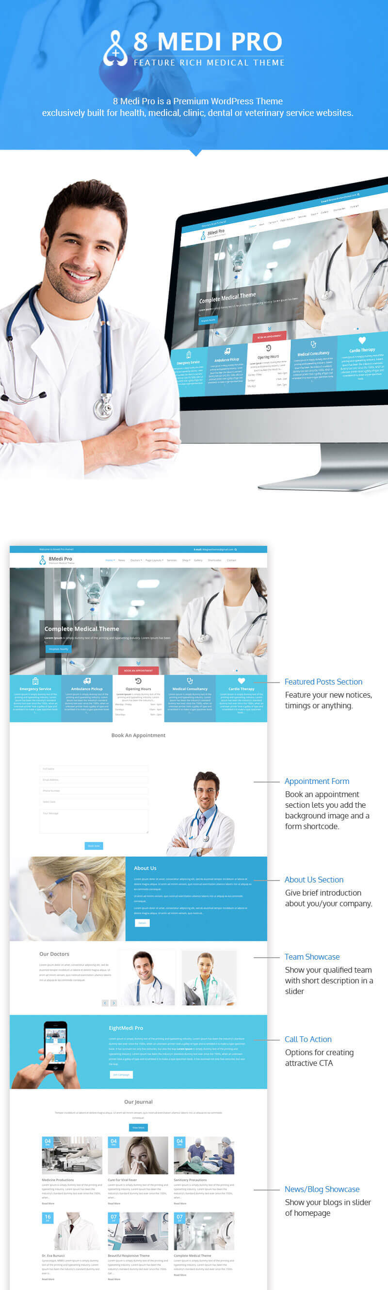 EightMedi Pro – Best Premium Medical & Healthcare WordPress Theme