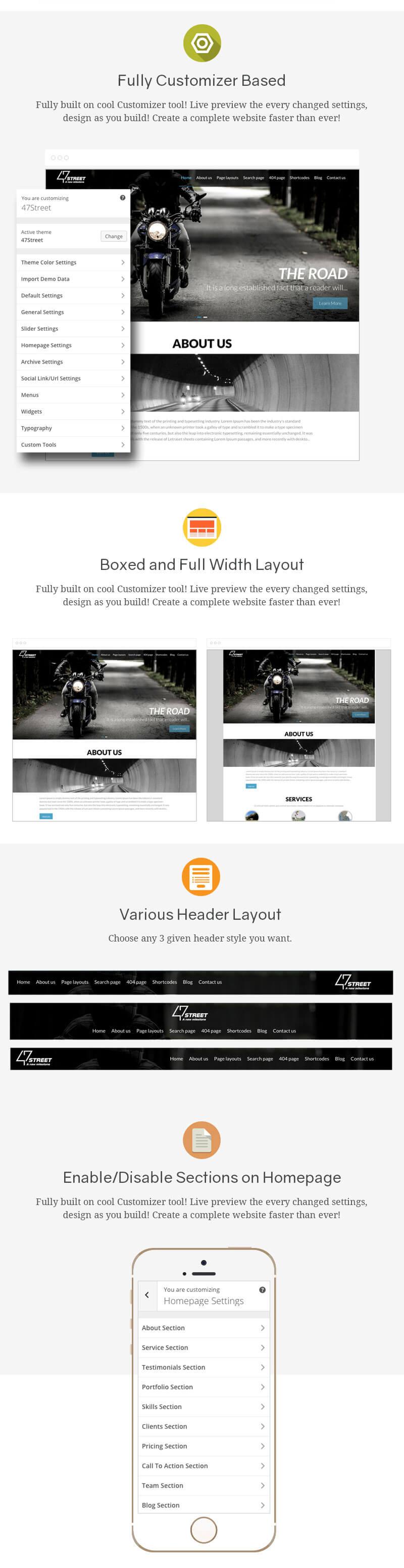 FortySeven Street – Free Multipurpose Responsive WordPress Theme