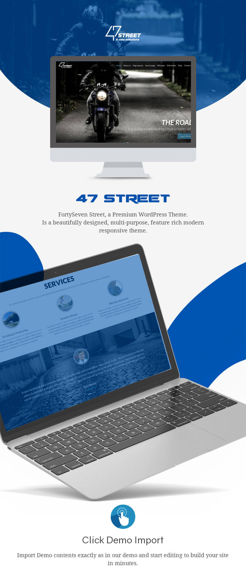 47 Street – Premium Multipurpose Responsive WordPress Theme