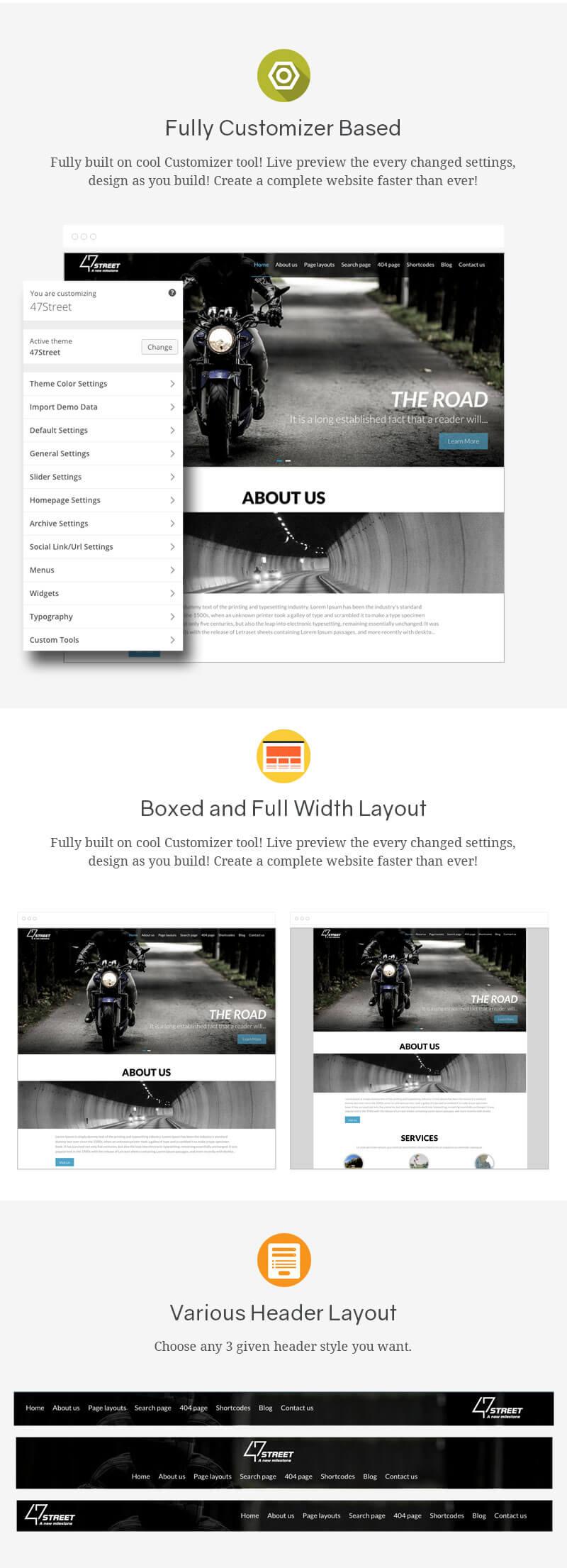 47 Street – Premium Multipurpose Responsive WordPress Theme