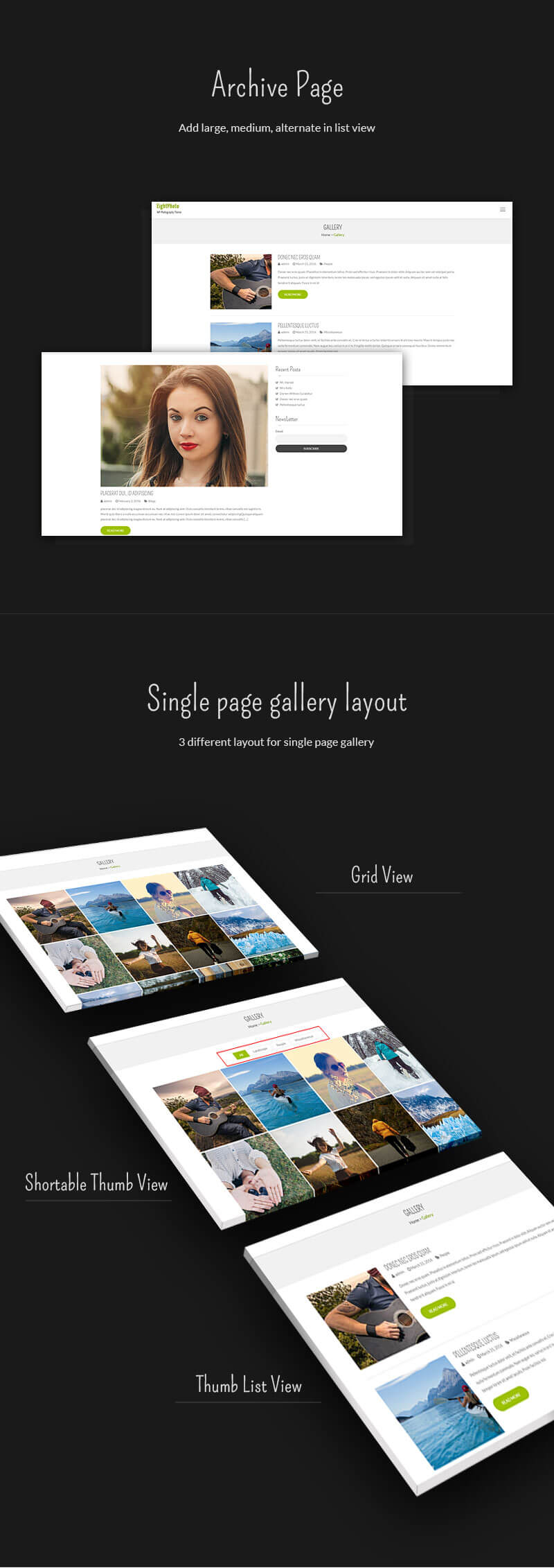 EightPhoto – Best Free WordPress Photography Theme