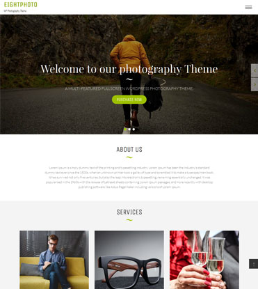 EightPhoto - Best Free WordPress Photography Theme
