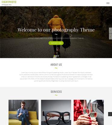 EightPhoto - Best Free WordPress Photography Theme