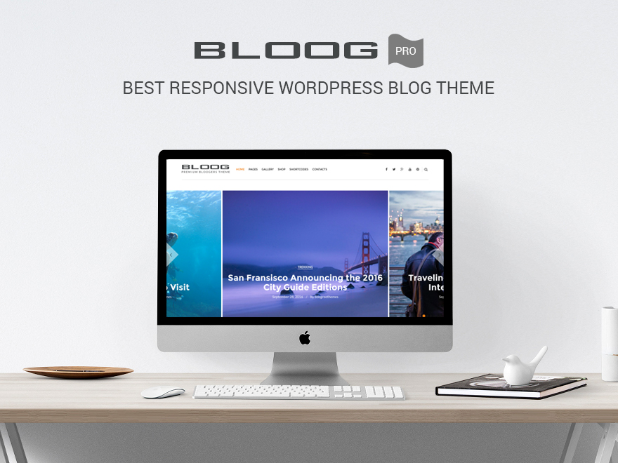 Bloog Pro - Best Responsive WordPress Blog Theme for 2017
