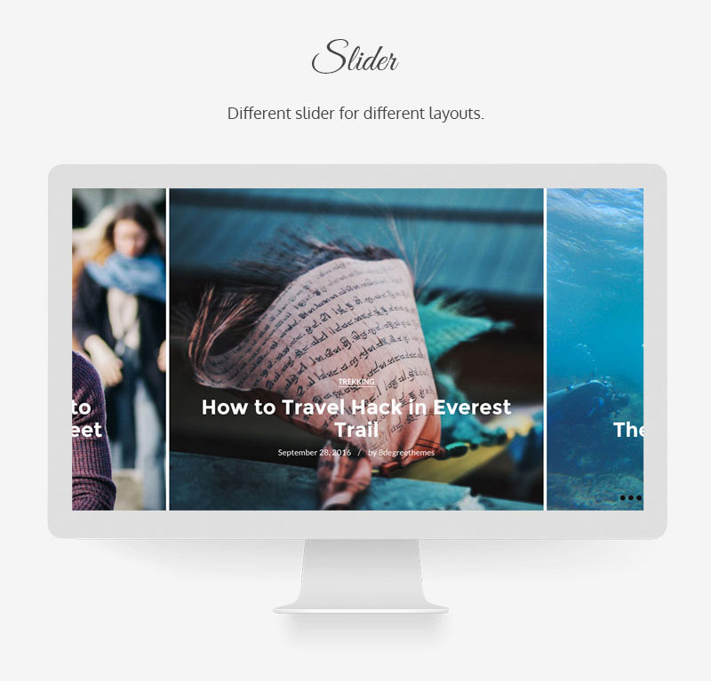 Bloog Pro WP theme feature - Slider