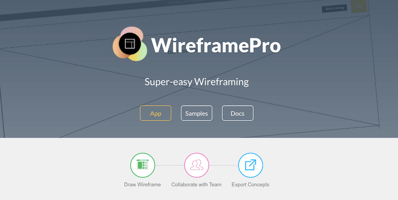 Wireframe Pro - Tool to streamline your web development process