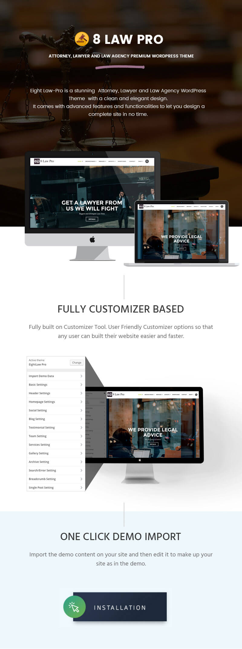 EightLaw Pro – Premium Lawyer WordPress Theme For Law Firm
