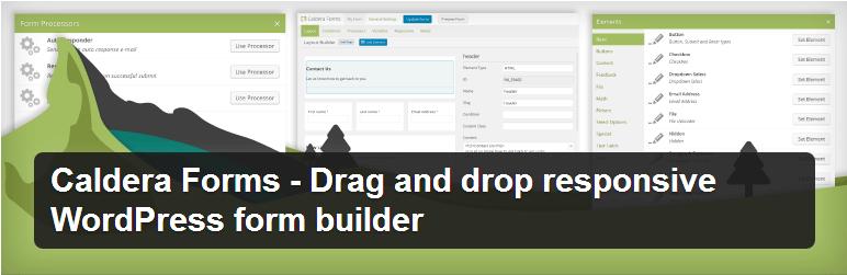 Caldera Forms - Top WordPress Drag and Drop Page Builder Plugin