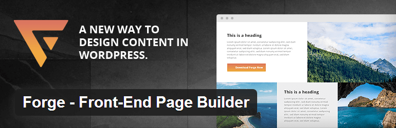 Forge - Front End Page Builder
