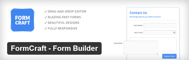 FormCraft Form Builder - Top WordPress Drag and Drop Page Builder Plugin
