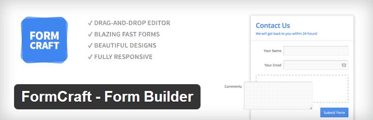 FormCraft Form Builder - Top WordPress Drag and Drop Page Builder Plugin