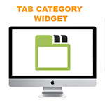 tabed category widget