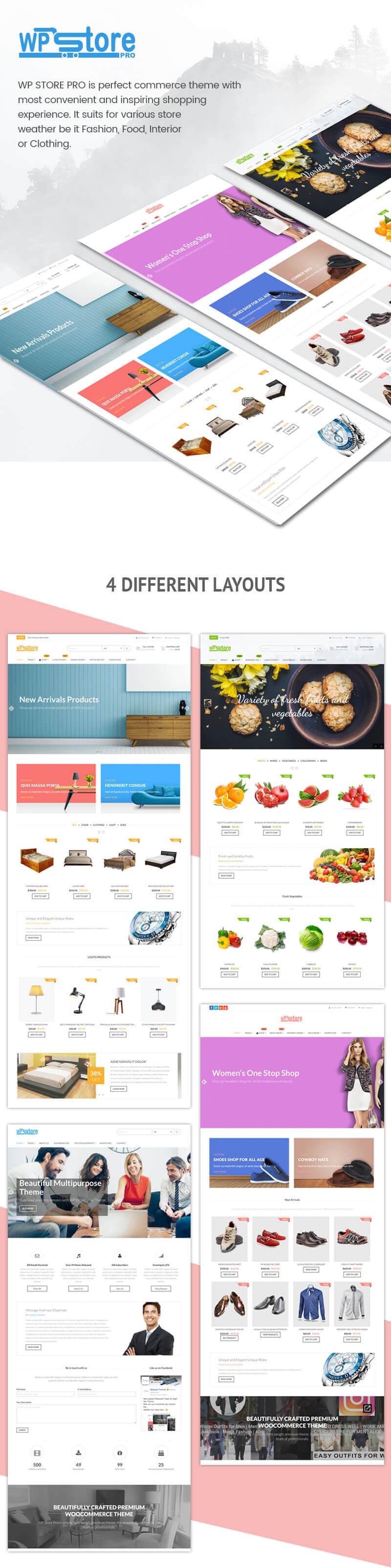 WP Store Pro – Best Premium WooCommerce Store WordPress Theme