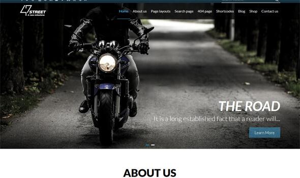 47Street Multipurpose WordPress Theme