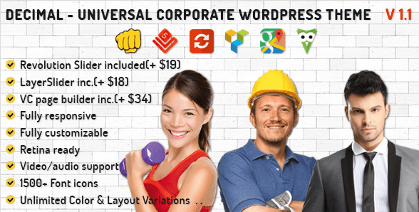 Decimal Universal Corporate WordPress Theme