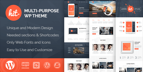 Hit Business Corporate Creative WordPress Theme