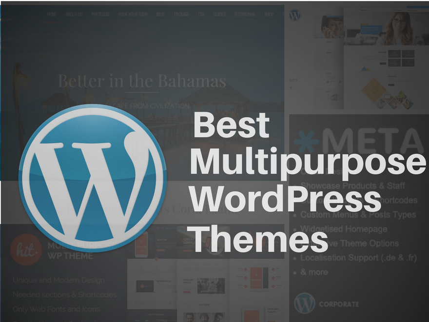Collection of The Best MultiPurpose WordPress Themes