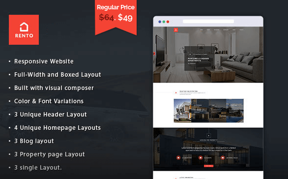 Real Estate WordPress Theme Rento