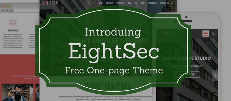 Introducing EightSec - Free WordPress One-page Theme