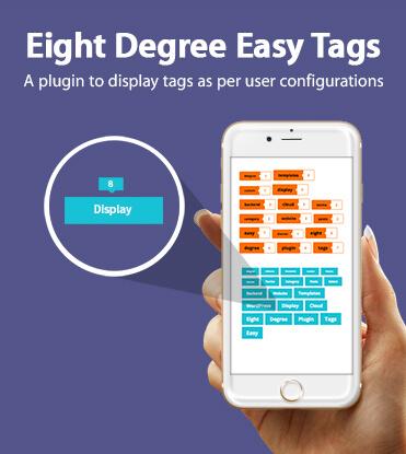 Eight Degree Easy Tags - WordPress Tags Designer Free Plugin