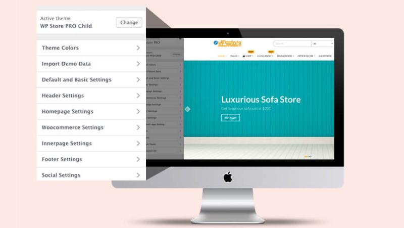 fully customizer based - WP Store Pro