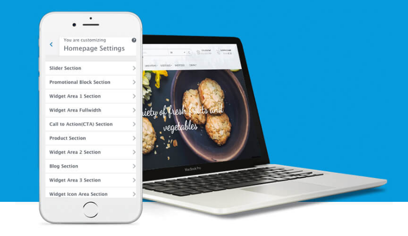 Highly customizable homepage - WP Store Pro