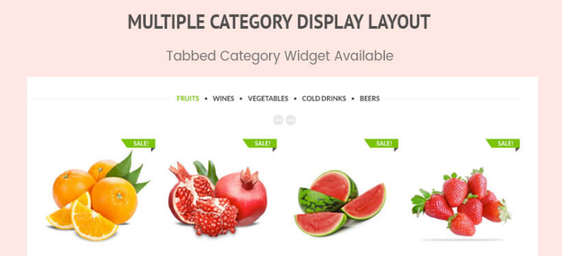 Multi category display layout - WP Store Pro