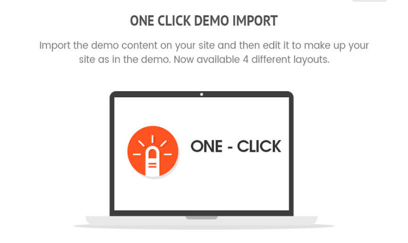 One click demo import - WP Store Pro