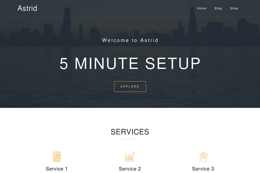 Astrid - free WordPress theme