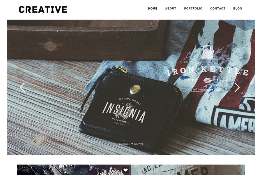Creative - free portfolio WordPress theme