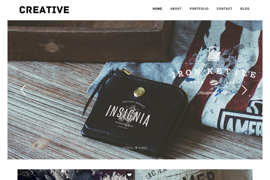 Creative - free portfolio WordPress theme