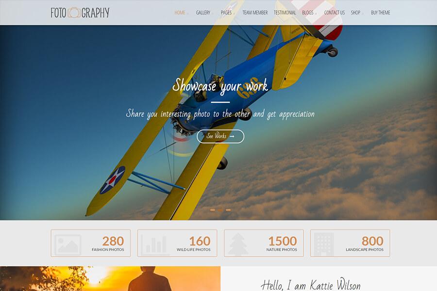 FotoGraphy - free portfolio WordPress theme