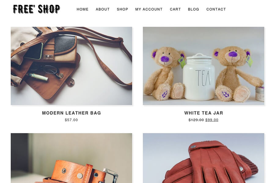 Free Shop - free WordPress theme