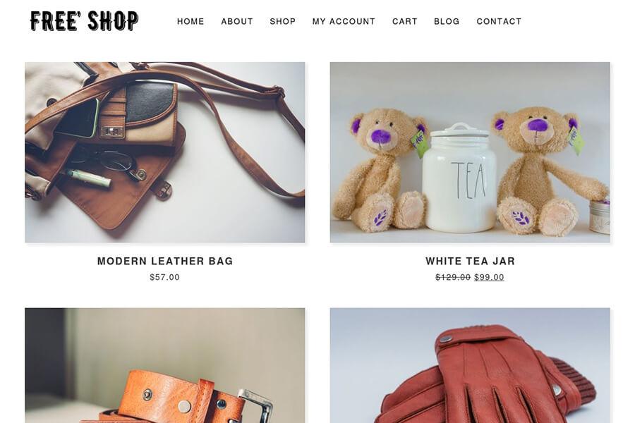 Free Shop - free WordPress theme