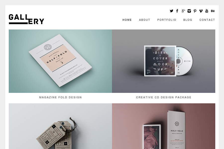 Gallery - free portfolio WordPress theme