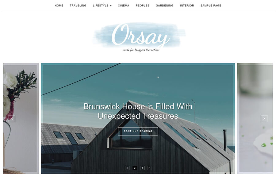 Orsay - free WordPress theme