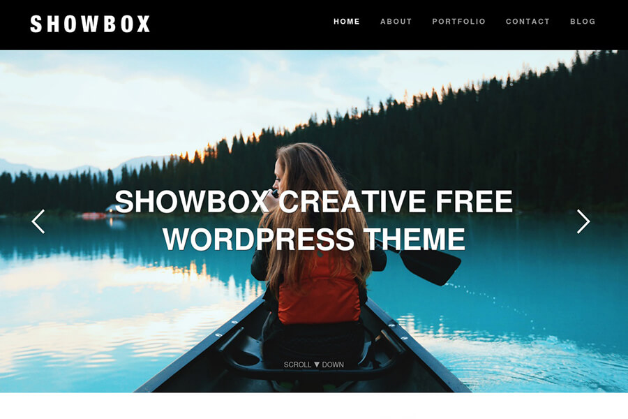 Showbox - free portfolio WordPress theme