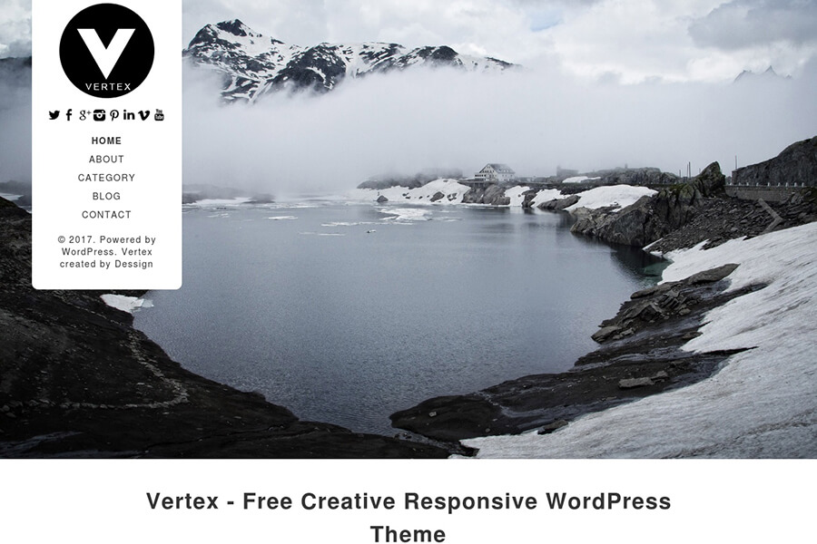 Vertex - free portfolio WordPress theme