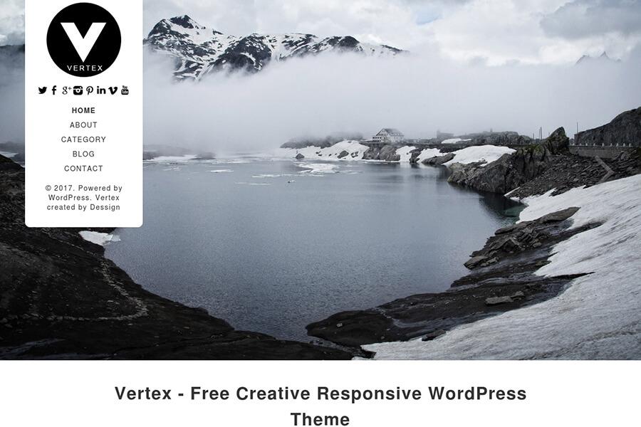 Vertex - free portfolio WordPress theme