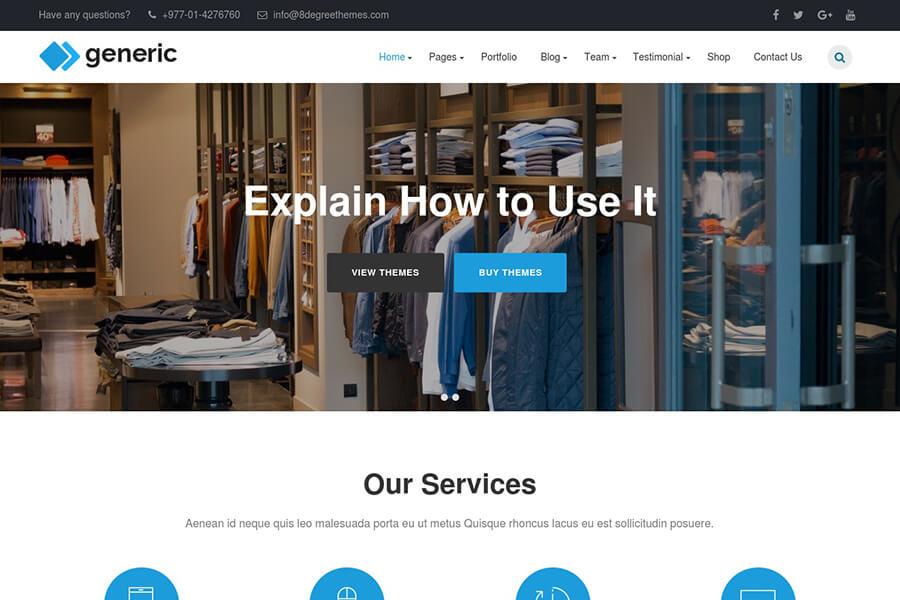 WP Generic - free WordPress theme