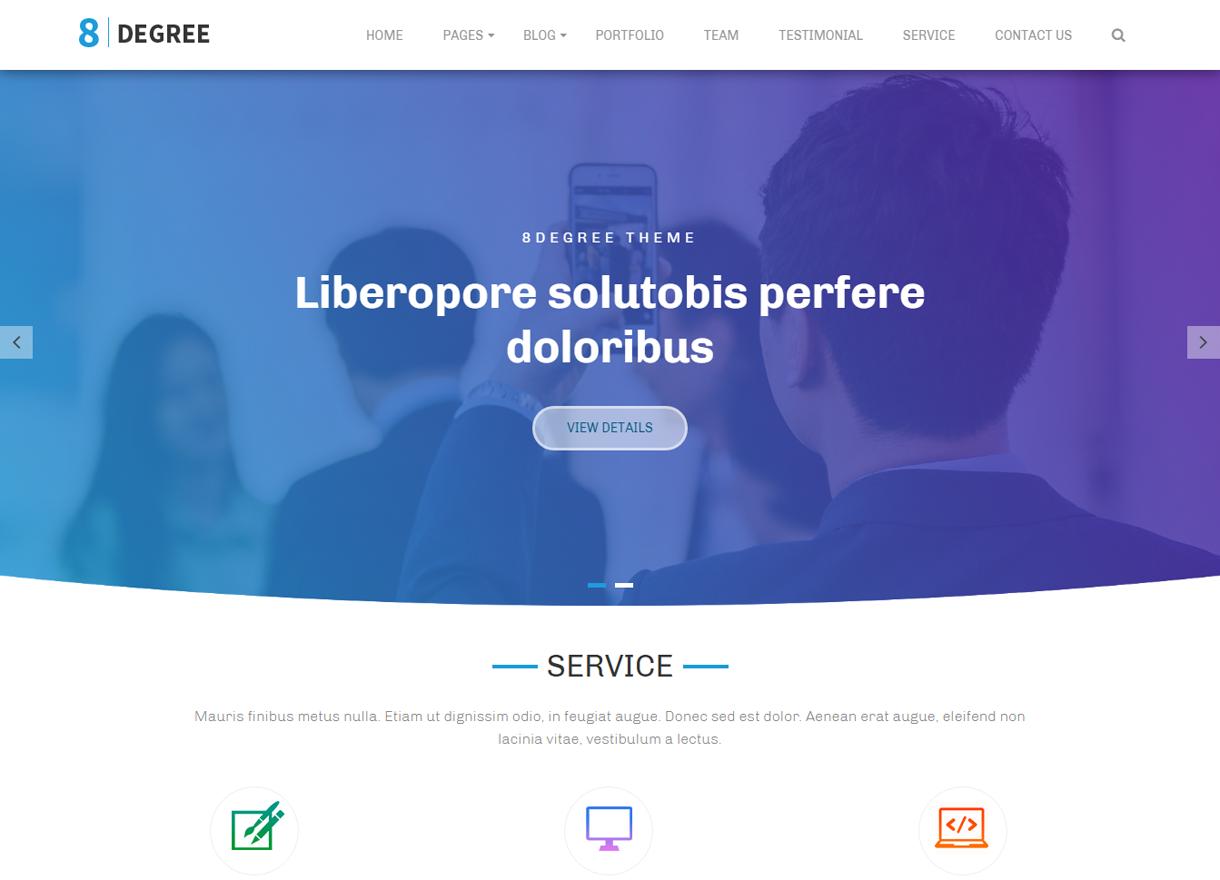 Eight-Degree-Free Portfolio WordPress Theme