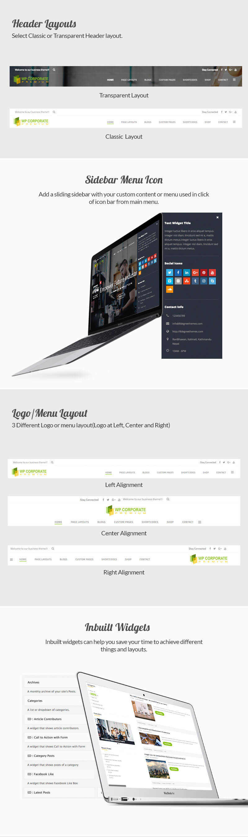 WP Corporate – Best Premium WordPress Business Theme
