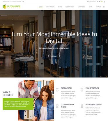 WP Corporate - Best Premium WordPress Business Theme